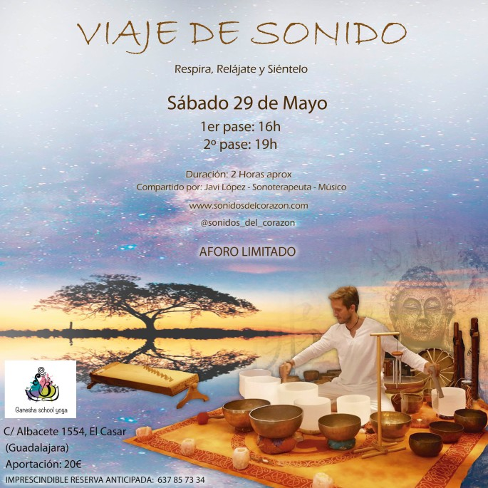 CARTEL VIAJE DE SONIDO CON JOANA - EL CASAR CON JOANA - SABADO 29 de MAYO L 2021 -
